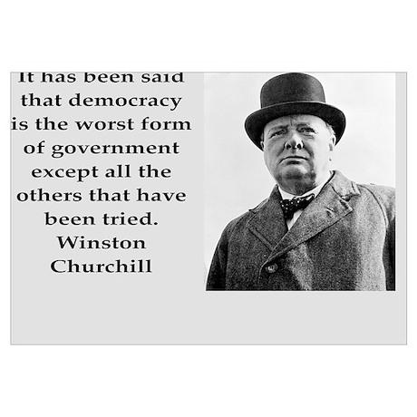Churchill Quotes Socialism Wall Art | Churchill Quotes Socialism ...