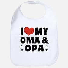 I Love My Oma and Opa Bib