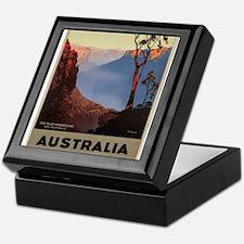 Vintage poster - Australia Keepsake Box