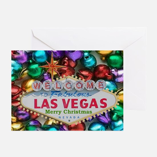 Las Vegas Jingle Bells Merry Christmas Cards 10