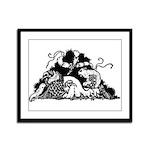 Poe Vignette 2 Framed Panel Print
