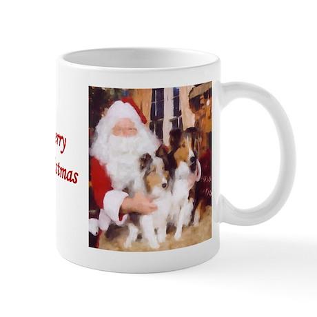 Sheltie Christmas with Santa Mug