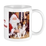 Sheltie Christmas with Santa Mug