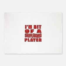 I'm Bit Of Shuffleboard Player 5'x7'Area Rug