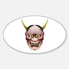 Han-nya Sticker (Oval)