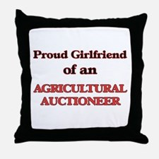 Proud Girlfriend of a Agricultural Au Throw Pillow