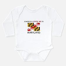 Cute Maryland map Long Sleeve Infant Bodysuit