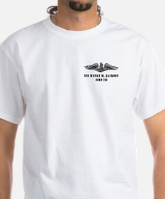 HMJ Silver Dolphins (With Back Logo) White Tee