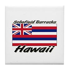 Schofield Barracks Hawaii Tile Coaster