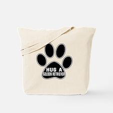 Hug A Golden Retriever Dog Tote Bag