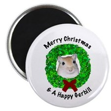 Merry Christmas gerbil magnet (10 pack)