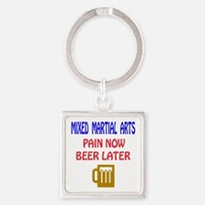 Mixed martial arts Pain Now Beer L Square Keychain