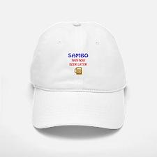 Sambo Pain Now Beer Later Baseball Baseball Cap