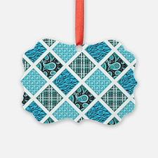 BLUE CRAZY QUILT Ornament