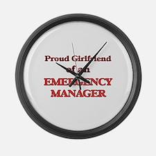 Proud Girlfriend of a Emergency M Large Wall Clock