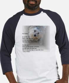 Maltese poem Baseball Jersey