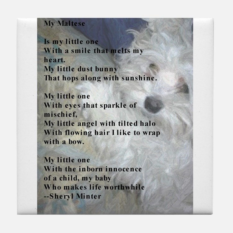 Maltese poem Tile Coaster