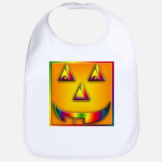 Rainbow Pumpkin Bib