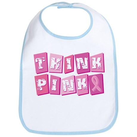 Think Pink Blocks Bib