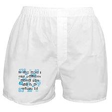 Life and Math Boxer Shorts