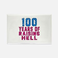 100 Years Of Raising Hell Birthda Rectangle Magnet