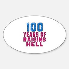 100 Years Of Raising Hell Birthday Decal