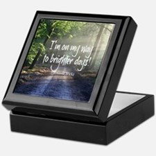 Unique Positive outlook Keepsake Box