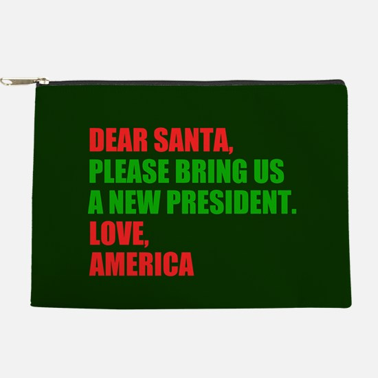 Dear Santa Impeach Trump Makeup Bag