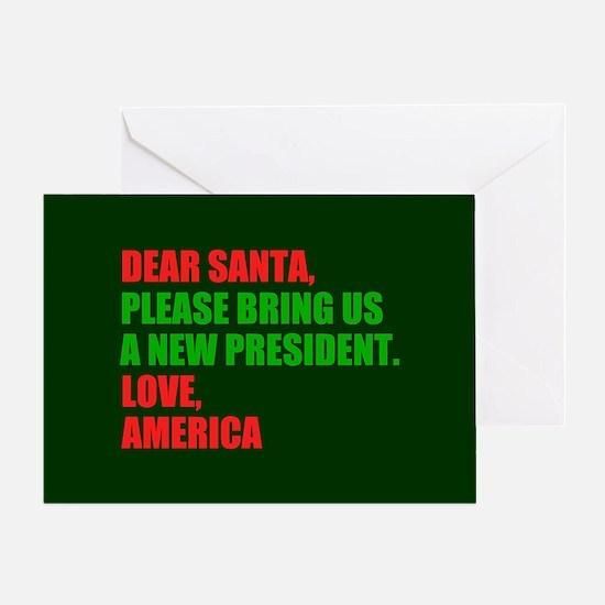 Dear Santa Impeach Trump Greeting Card
