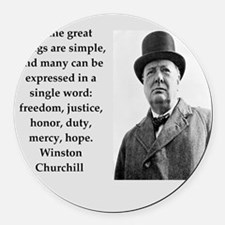 Wisnton Churchill quote on gifts and t-shirts. Rou
