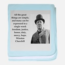 Wisnton Churchill quote on gifts and t-shirts. bab
