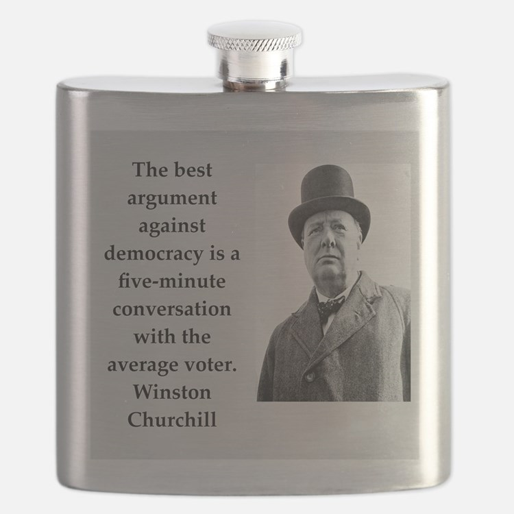 Wisnton Churchill quote on gifts and t-shirts. Fla