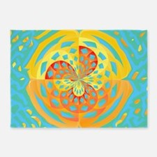 Summer colors 5'x7'Area Rug