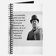 Wisnton Churchill quote on gifts and t-shirts. Jou