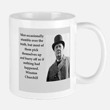 Wisnton Churchill quote on gifts and t-shirts. Small Small Mug