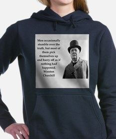 Wisnton Churchill quote on gifts and t-shirts. Wom