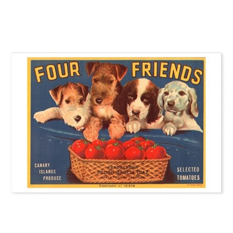 Vintage Four Friends Crate La Postcards (Package o
