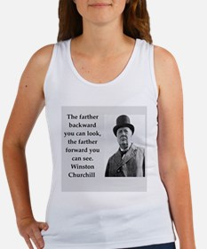 Wisnton Churchill quote on gifts and t-shirts. Tan