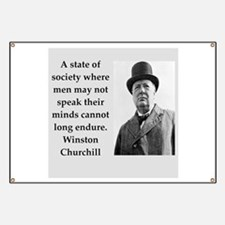 Wisnton Churchill quote on gifts and t-shirts. Ban