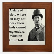 Wisnton Churchill quote on gifts and t-shirts. Fra