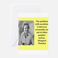 Margaret Thatcher quote Greeting Cards