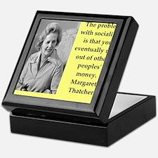 Margaret Thatcher quote Keepsake Box