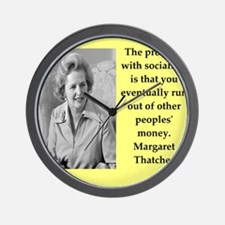 Margaret Thatcher quote Wall Clock