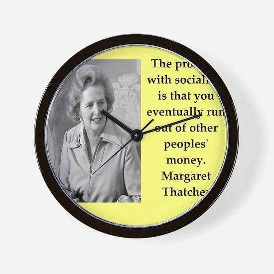 Margaret Thatcher quote Wall Clock