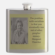 Margaret Thatcher quote Flask
