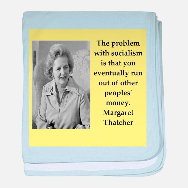 Margaret Thatcher quote baby blanket