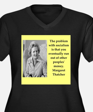 Margaret Thatcher quote Plus Size T-Shirt