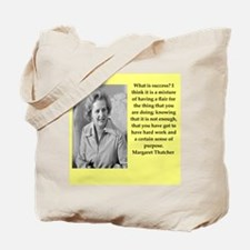 Margaret Thatcher quote Tote Bag
