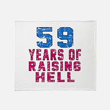 59 Years Of Raising Hell Birthday Throw Blanket