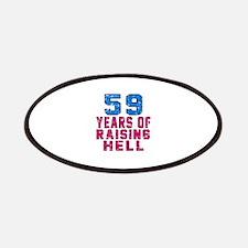 59 Years Of Raising Hell Birthday Patch